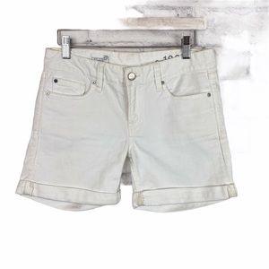 GAP 1969 white Real Straight Shorts stretch